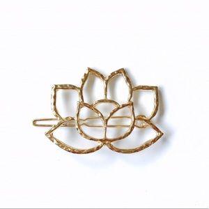 Sacred Lotus Minimalist Hair Pin Barrette